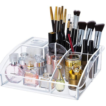 Online Shopping Hot Sale Clear Makeup Brush Holder Storage Mac Cosmetics  Display Acrylic Tray Cosmetic Organizer - Buy Mac Cosmetics Display,Acrylic