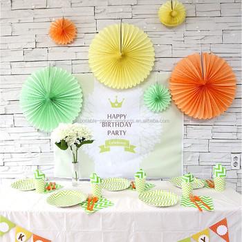 20cm 50cm yellow green orange tissue paper fan decorations sets honeycomb paper decoration fan party decorations - Tissue Paper Decorations