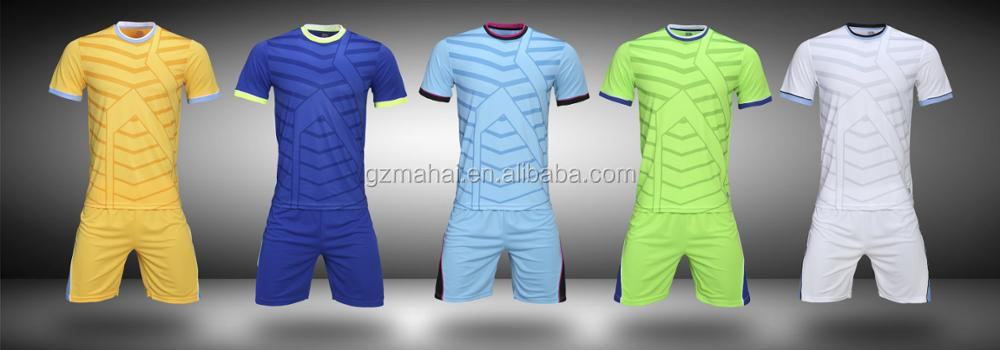 High Quality Customized Soccer Jersey football training sets uniforms own logo sponsor