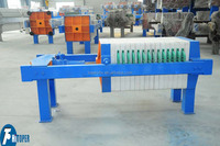 Water treatment project dewatering small filter press