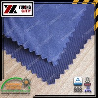 Pure cotton woven drill no fire fabric for fireman clothing can reach Europe/US standard