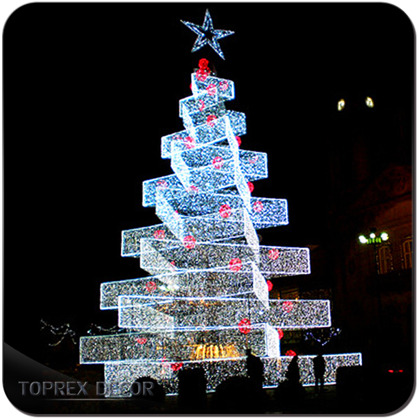 20ft 30ft led outdoor wire lighted Christmas tree white