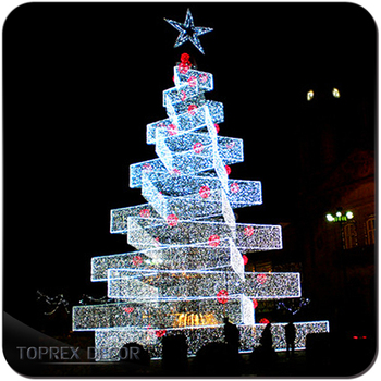 20ft 30ft led outdoor wire lighted christmas tree white - Lighted Wire Christmas Decorations