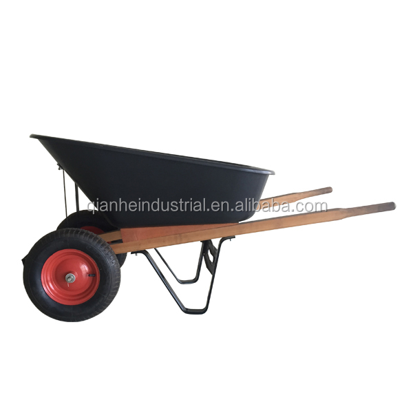 wheel barrow two wheels plastic tray wheel barrow WH8802