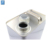 4L empty square chemical oil metal tin can with screw cap