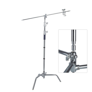 Pro 100% Metal Max Height 10.8ft/328cm C Stand Photography Studio Video light stand