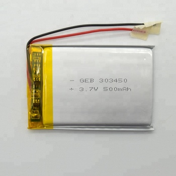 polymer lithium ion battery 3.7V 500mAh 303450 lipo Rechargeable battery