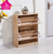 Wood Shoe Storage Cabinet Stand Rack Unit Cupboard 2 Tiers/Drawer