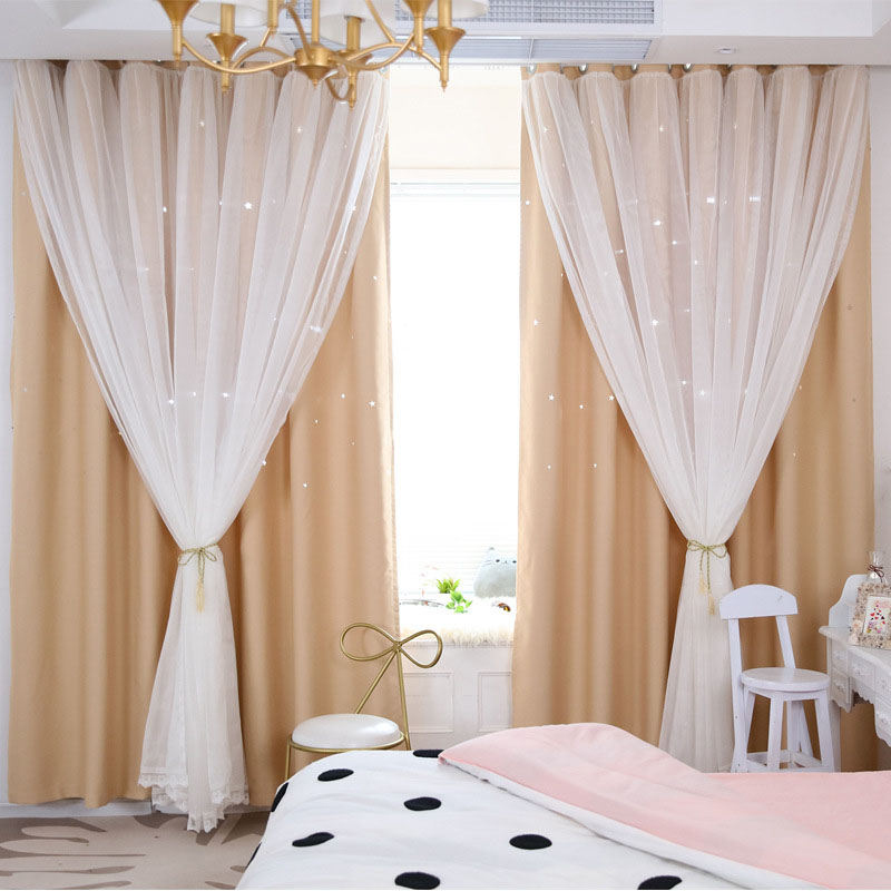 2019 Ready made solid polyester hotel quality blackout curtains