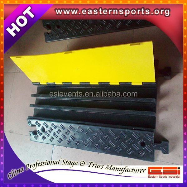 China manufacturer 2 channel rubber cable ramp/mat