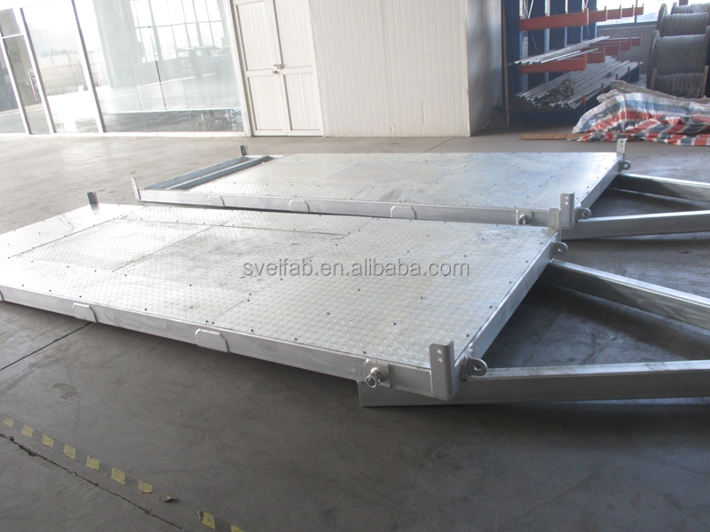 High quality galvanized steel trailer frame
