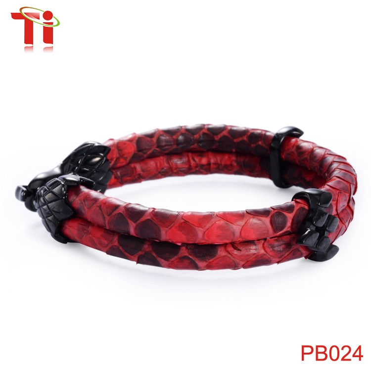 Aohua Genuine Python Bracelet Men High Cl Red Cord For Watch Custom