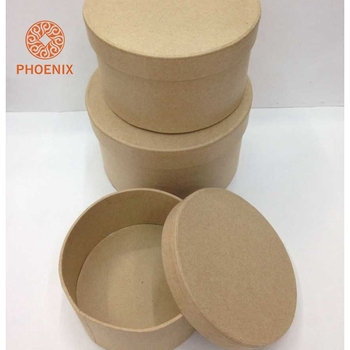 Cardboard Hat Wholesale Premium Cylindrical Gift Paper Pulp Mache Box