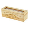 personalized wooden tea box with clear acrylic window, tea boxes with compartments wood China