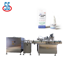 Automatic 5-30ML Plastic Glass Dropper Bottle Filling Capping Labeling Machine