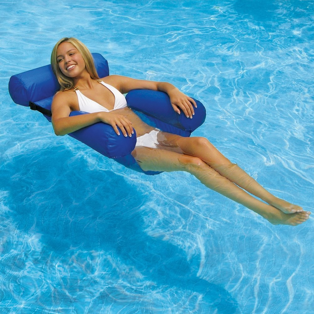 Pool Floating Seat Swimming Funning Water Chair Inflatable Lounger