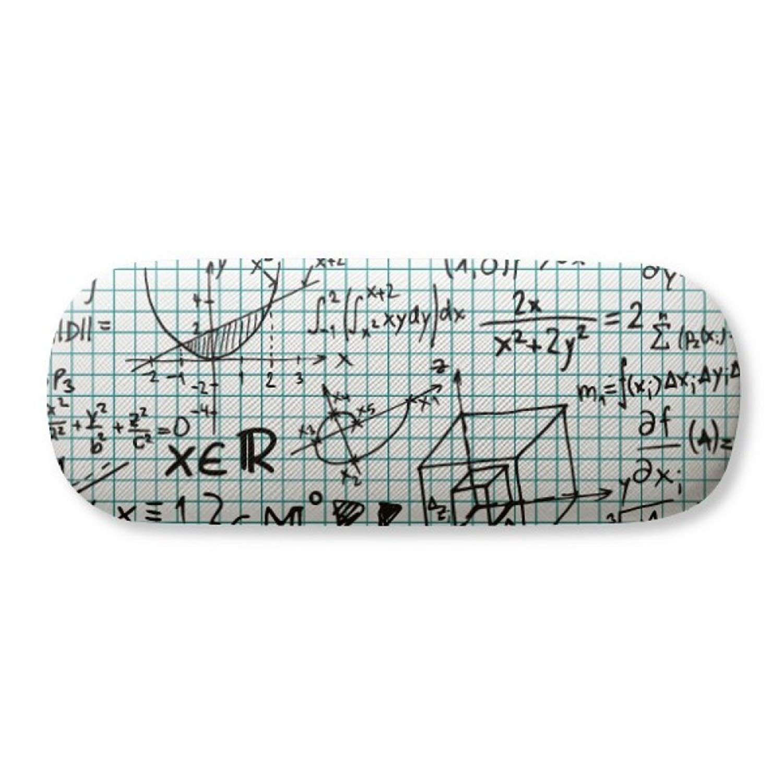 Geometric Mathematical Formula Calculus Glasses Case Eyeglasses Clam Shell Holder Storage Box
