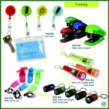 Corporate Gifts Singapore - Lanyard Pull Reel, Mini Stapler, Stationery Set, Mini Torch