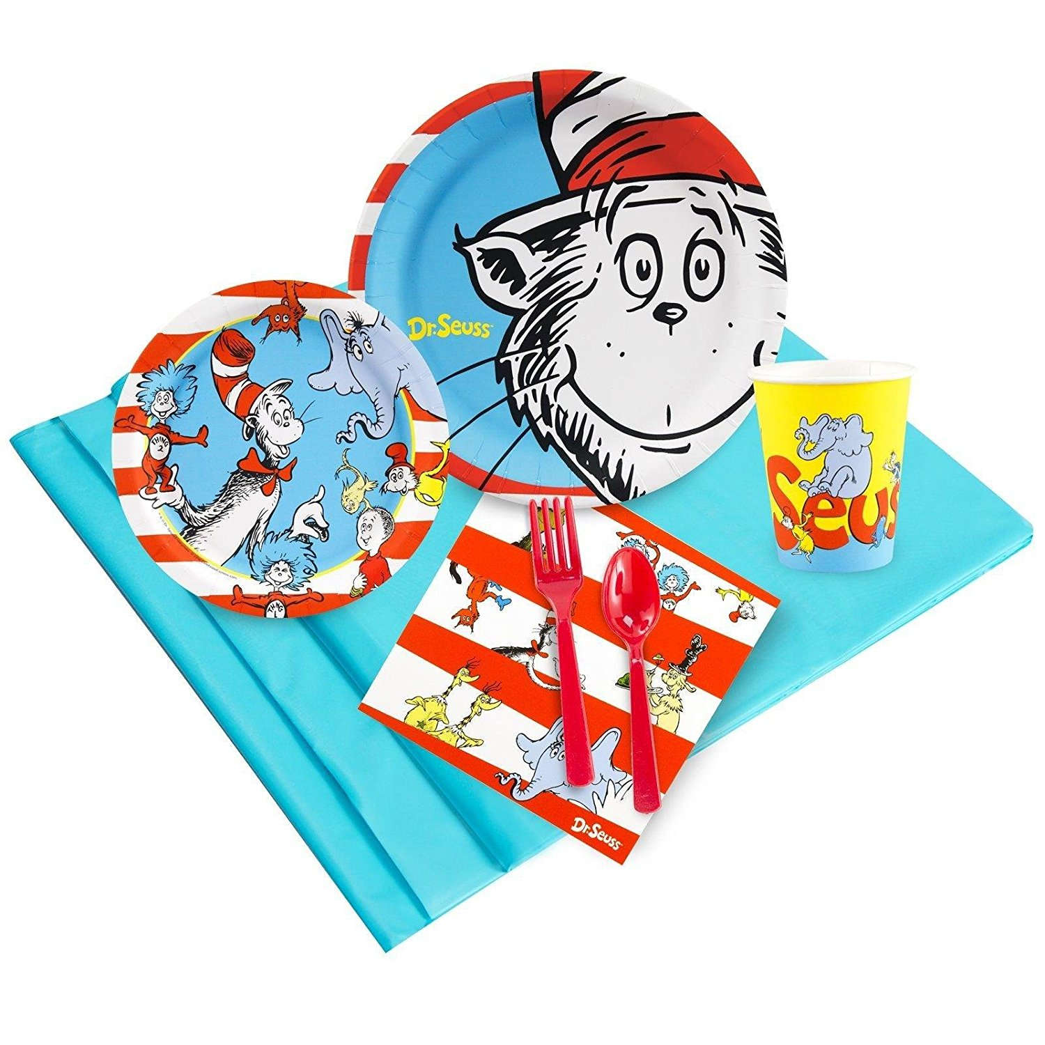 Get Quotations · Dr Seuss Party Supplies   Party Pack Bundle For 24