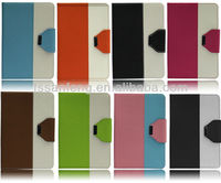 Stripe leather case for ipad mini/left right open flip case for ipad tablet/protector for leather case ipad paypal accepted