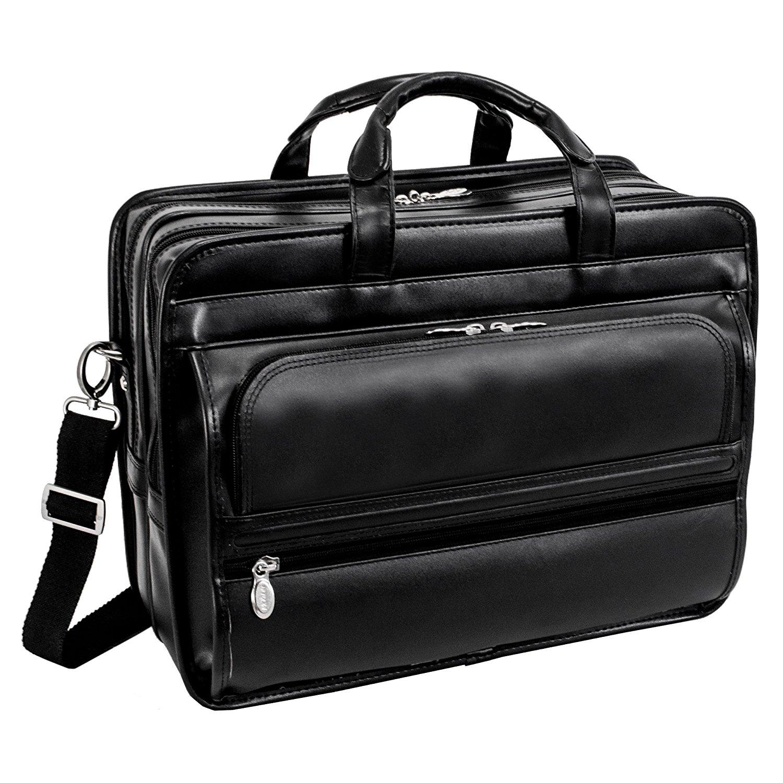 Get Quotations Mcklein Usa P Series Elston 15 6 Leather Double Compartment Laptop Case