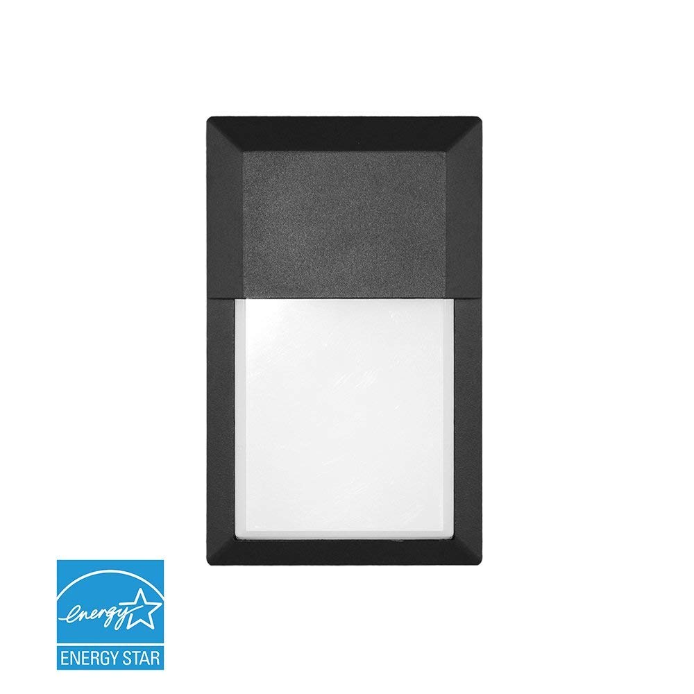 Euri Lighting EOL-WL01BLK-1030e Mini Outdoor Integrated LED Wall Light with Black Aluminum Die Cast