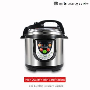 Fashionable 5l/6l stainless steel national electric multifunction intelligent majestic pressure cooker for EU/DUBAI/RUSSIA