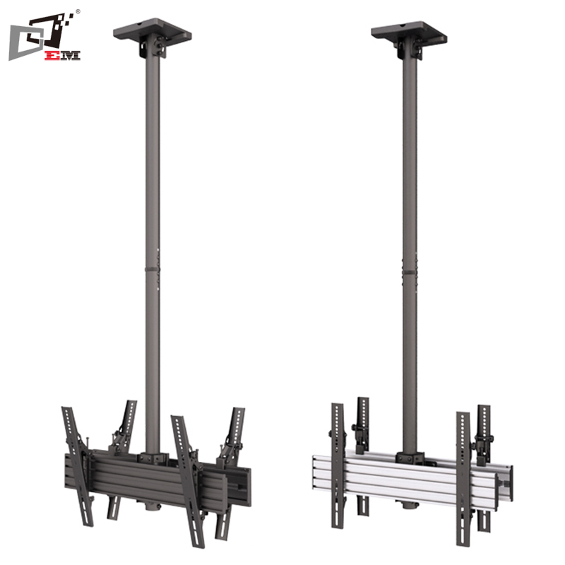 Ceiling Back To Back Sliding LCD TV Wall Mount TV Bracket With Max VESA600X400mm