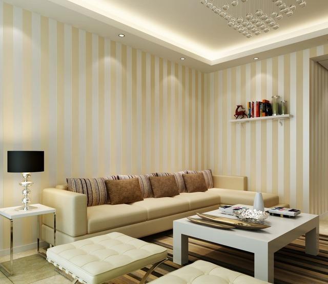 larges rayures non tiss papier peint moderne minimaliste. Black Bedroom Furniture Sets. Home Design Ideas