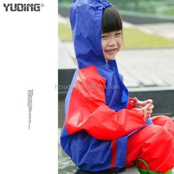 269fd43ba Dos colores Eva impermeable transpirable niños traje de lluvia para wal-mart