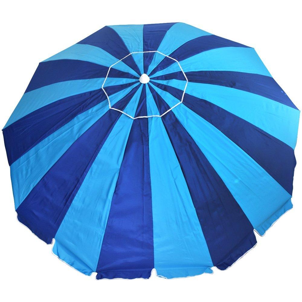 8 ft. 20 Panel Jumbo Vented Fiberglass Beach Umbrella