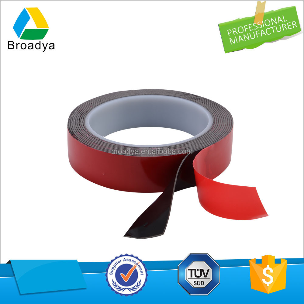 Guangzhou foam tape manufacturers 2mm thickness 24mm width double sided VHB acrylic foam tape with black foam