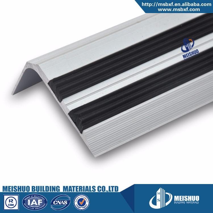 Beton Anti Slip Pvc Traptreden Met Zwart Aluminium Profiel