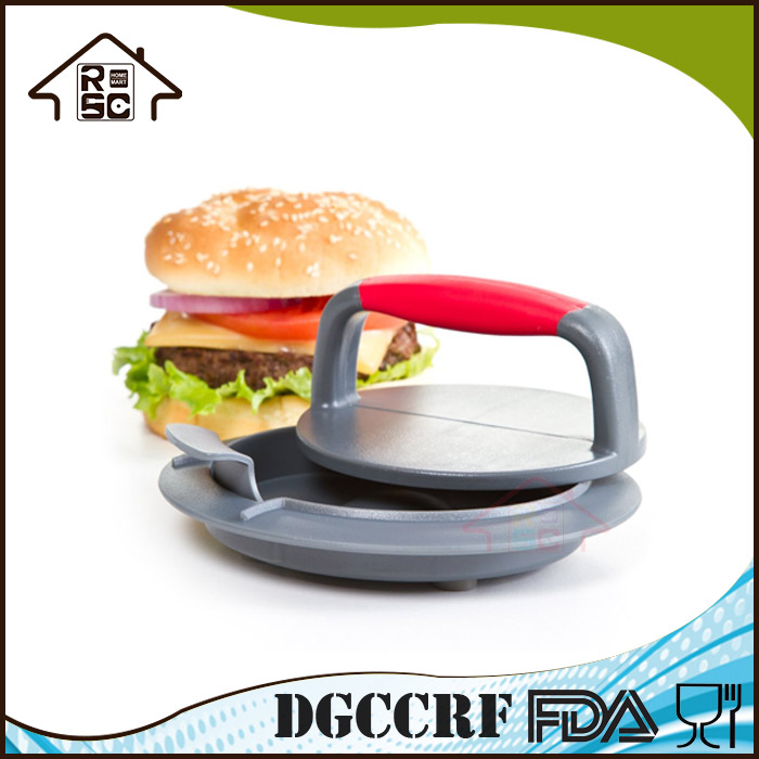 NBRSC Reliable Company 3-Piece Plastic Beef Burger Press Patty Maker with Removable Dimple