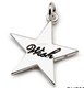 Asia China Factory Wholesale Custom Logo Star engraved jewelry tag charm