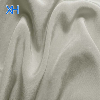 Silk Fabric 100% Pure Double Crepe Silk 100 Colors in Stock Silver Grey