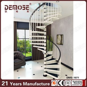 Single Stringer Cast Iron Spiral Staircase With Rubber