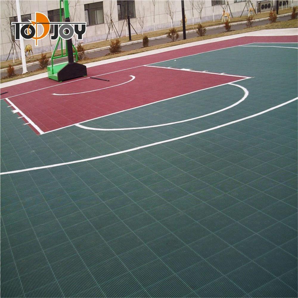 Revestimento plástico do assoalho da corte dos esportes antiderrapantes para o basquetebol
