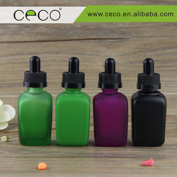 fancy square bottles frosted glass dropper bottles wholesale