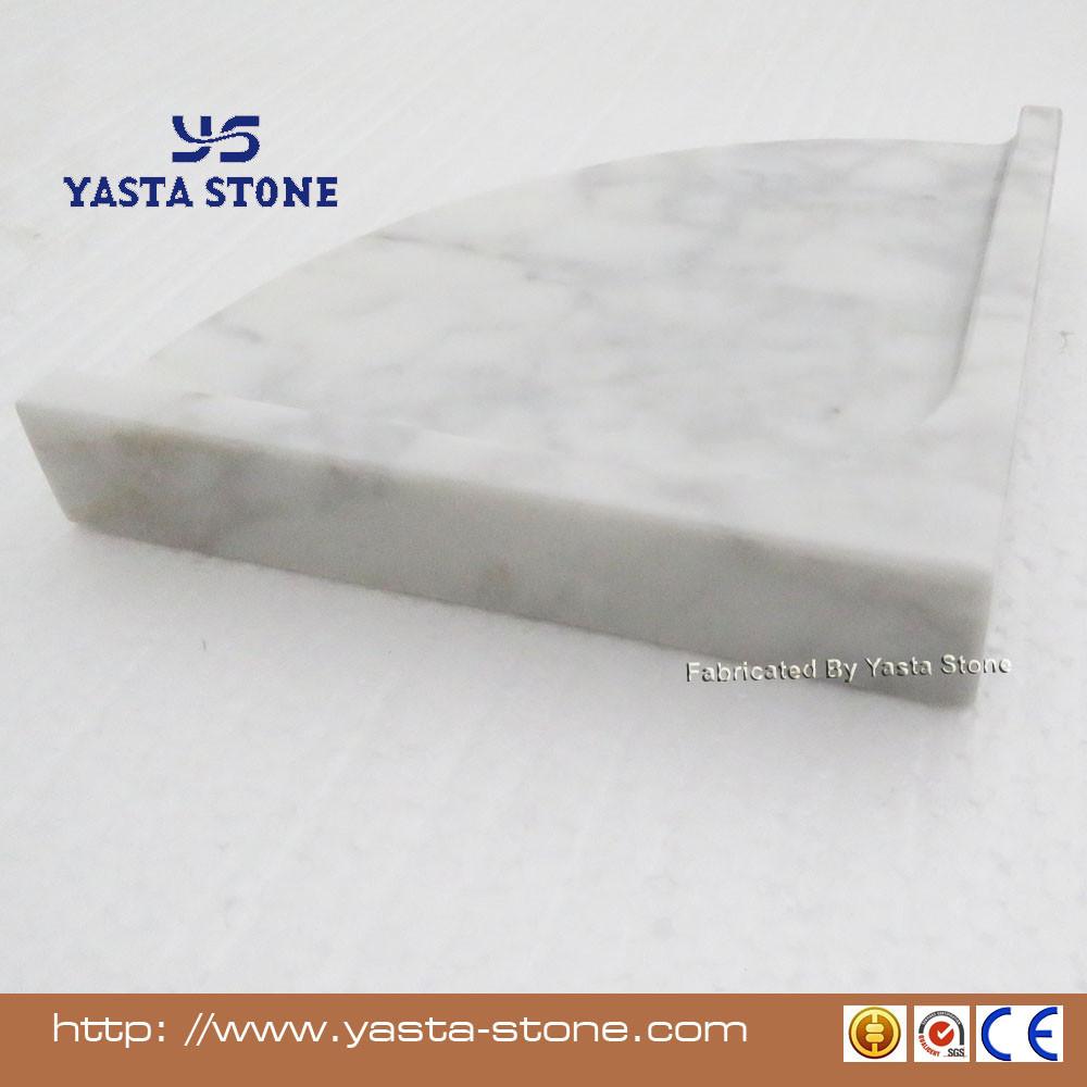 Carrara White Marble Shower Corner Shelf Stone Bathroom