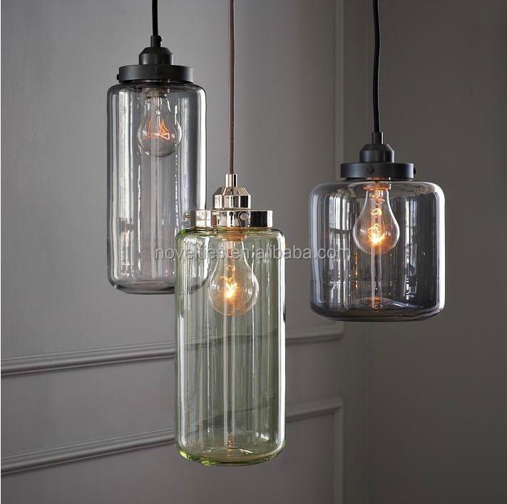 Modern Glass Jar Suspension Lamp Kitchen Lamp