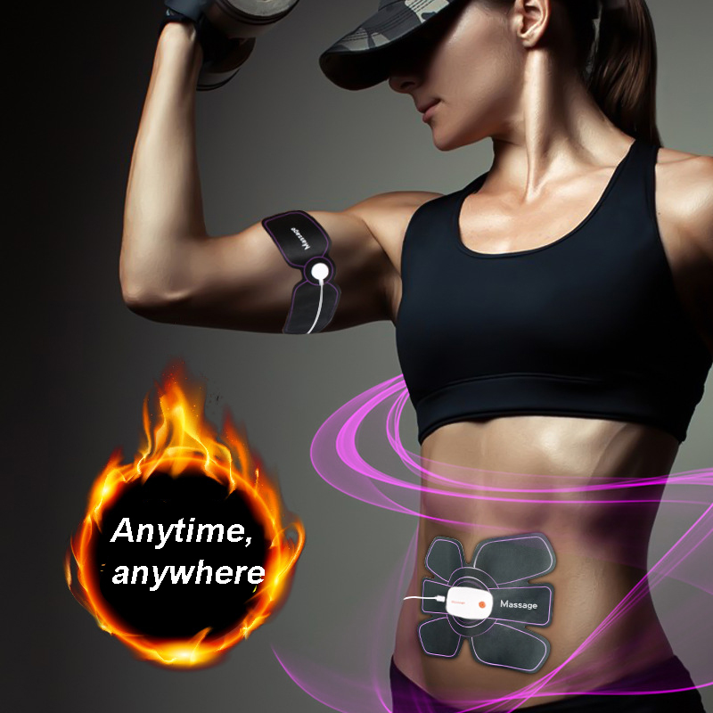Abs Electric Ems Muscle Toner Stimulator Relaxer Slimming Ab Belt women Machine Training Massager
