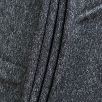 polyester nylon elastane blend grey melange color brushed fabric for sportswear