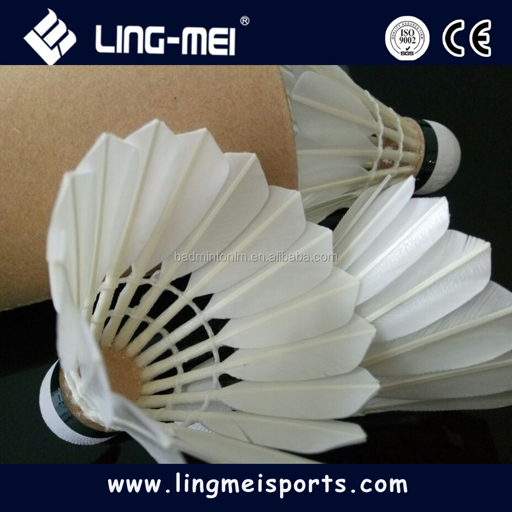 high quality oem duck feather shuttlecock yy as05 badminton with factory price