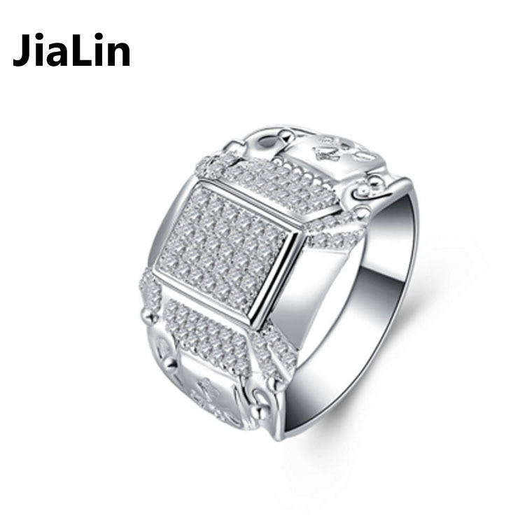 Men S Silver Jewelry Hip Hop Iced Out Diamond Rings Price Buy Hip