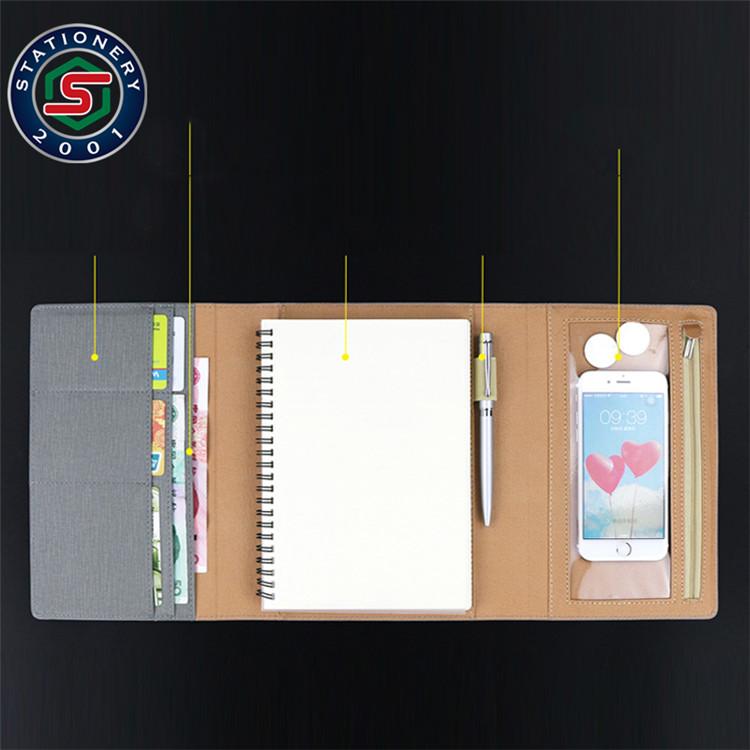 Nieuwe collectie 6-ring organizer binder 3 vouwen notebook map fabrikant