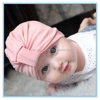 New arrival baby hair accessories Cotton Baby Hat Stretchy Baby Turban Cap 51386536727e