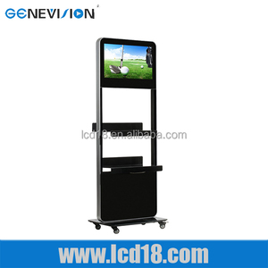 New products 2015 advertising stand cheap Newspaper Shelf touch screen all in one pc