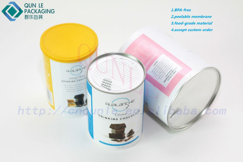 Paperboard Containers Paperboard Powder Tubes With White Sifter Caps - Buy  Paperboard Containers,Paperboard Powder Tubes With White Sifter
