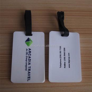 White Soft Pvc Company Logo Travel Bag Golf Name Tag